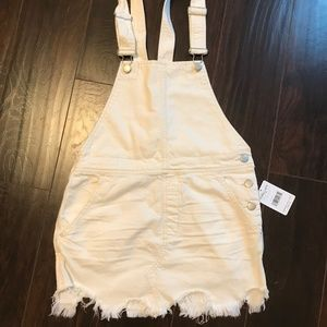 00e5ef694f4 Free People Dresses - NWT Free People Cotton Ripped Overalls Dress